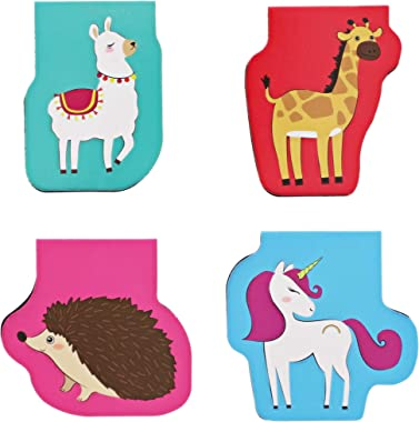 Mini Animal Magnetic Bookmarks for Kids, 10 Designs (50 Pack)