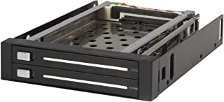 StarTech.com 2 Drive 2.5in Trayless Hot Swap SATA Mobile Rack Backplane - Dual Drive SATA Mobile Rack Enclosure for 3.5 HDD