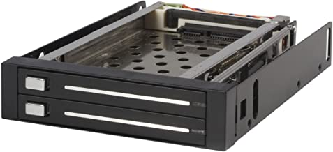 StarTech.com 2 Drive 2.5in Trayless Hot Swap SATA Mobile Rack Backplane - Dual Drive SATA Mobile Rack Enclosure for 3.5 HD...