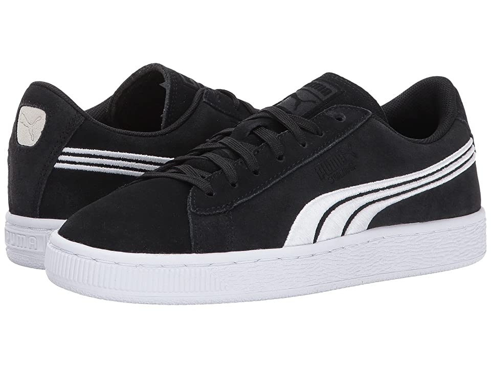 Puma Kids Suede Classic Badge (Little Kid/Big Kid) (Puma Black/Puma White) Boys Shoes