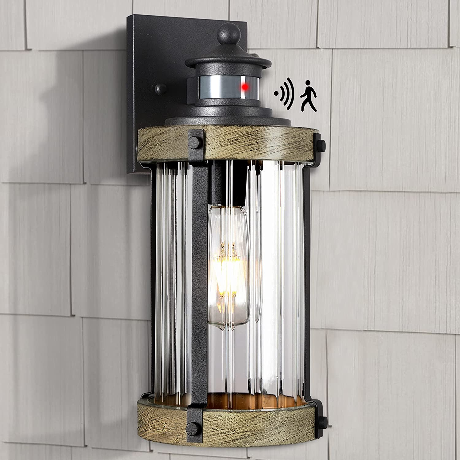 Outdoor Wall Light Fixture with Dusk Dawn to Photocell PIR Motio Sales for Bombing new work sale