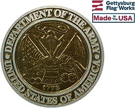 Gettysburg Flag Works Aluminum Grave Marker Army, Cemetery Memorial Flag Holder, Veteran Plaque, Made In USA
