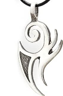 Trilogy Jewelry Pewter Maori Tribal Fishhook New Zealand Pendant on Leather Necklace