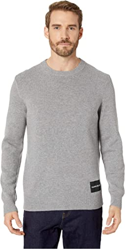 Lambswool Pullover with Logo Patch