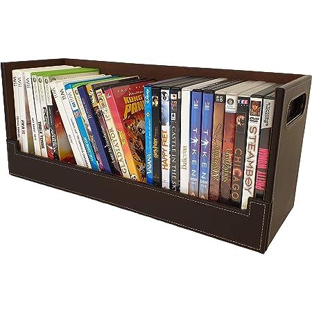 Boîte Rangement DVD Style & Design Attractif | Magnétique | Empilement Sécurisé | 30+ DVD Blu-Ray ou 90 CD : Poser sur Étagères, Tables, Bureaux | Accessoires Consoles Jeux Vidéo/PC/Mac