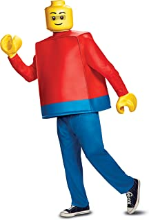 Disguise Deluxe Lego Adult Lego Guy Fancy Dress Costume ...