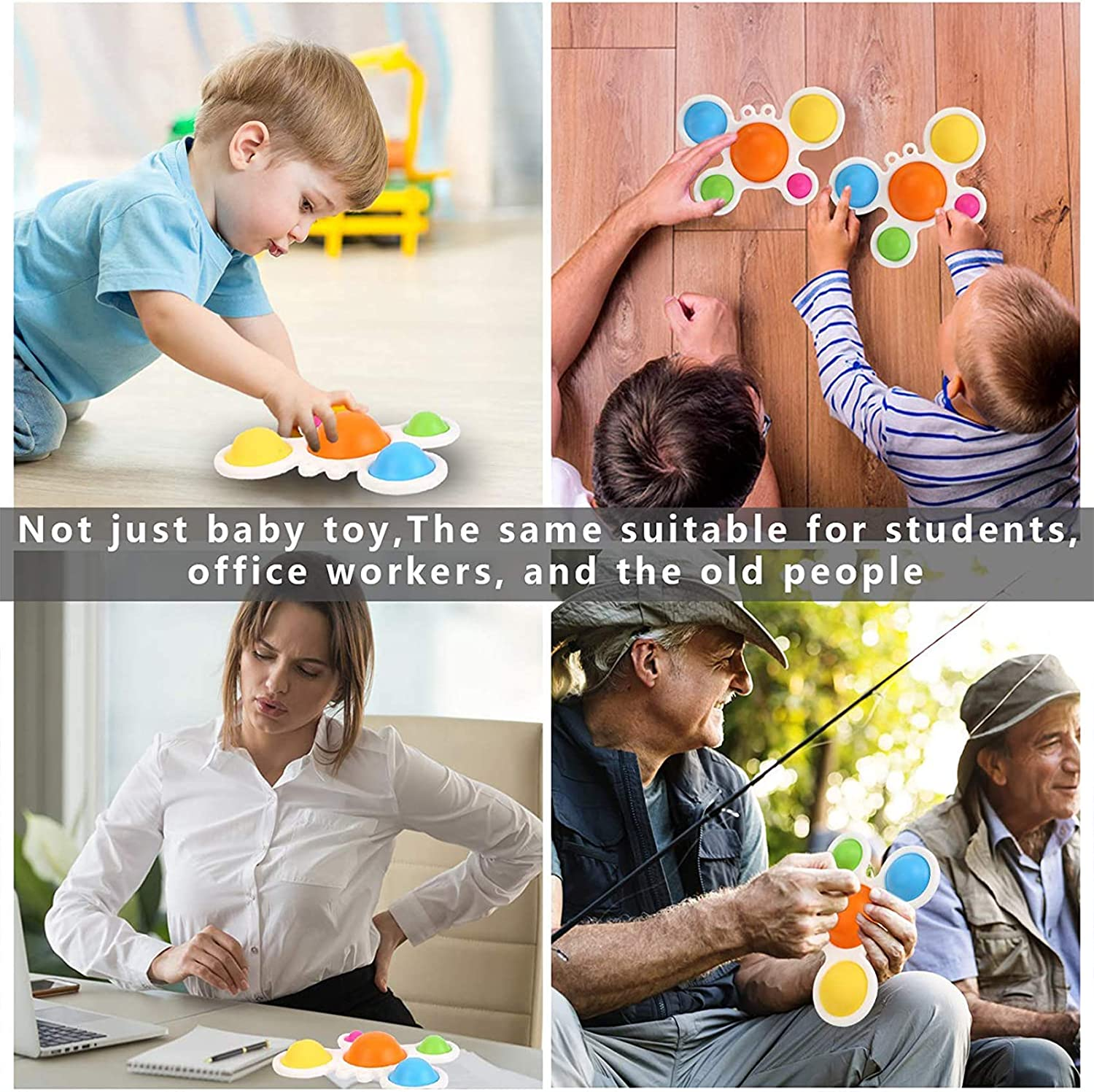 1Pc Multiple Colors Infant Early Education Intelligence Skills Development Attention Intensive Learning Toy Baby Sensory Simple Dimple Toys /& Gifts for Babies and Toddlers Ages 6 Months and Up