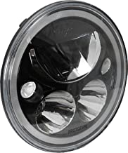 "Vision X 9895291 7"" Round Vortex LED Headlight with Low-High Halo"