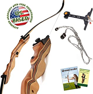"""KESHES Takedown Hunting Recurve Bow and Arrow - 62"""" Archery Bow for Teens and Adults, 15-55lb Draw Weight - Right and Left Handed, Archery Set Bowstring Arrow Rest Stringer Tool Sight, Instructions"""