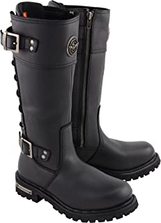 Milwaukee Leather Women's Calf Laced Riding Boot Black 8.5
