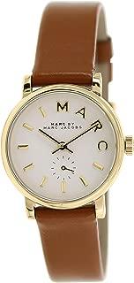 MBM1317 Tan Brown Leather Strap Gold Bezel Ladies Watch