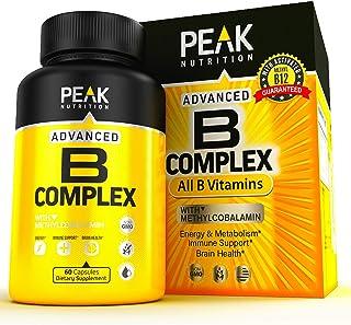 5X Potent B Complex Vitamin Supplement - Made in USA - All B Vitamins Including Vitamin B12, Folic Acid, B1, B2, B3, B5, B...