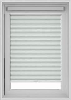 Gamma - Estor plisado para ventana de techo Velux, metal plata, Blanco, MK06 (78x118 cm)