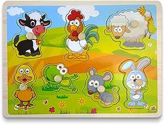 Smart Kids - Wooden Puzzles for Toddlers - Jumbo knob Puzzle - Pets Puzzles Set - 7pcs - Preschool