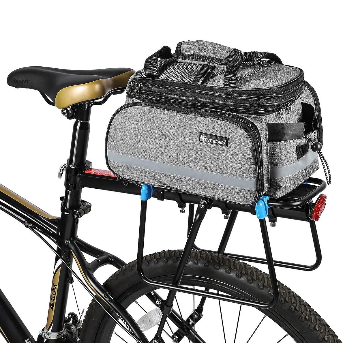 疑い脱獄予想外防水自転車バックポケットサドルバッグ、10-25L多機能大容量取り外し可能な自転車のテールシートのトランクバッグハンドバッグショルダーストラップ、防雨カバー付きサイクリング荷物ラックパッケージ3色