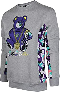 Screenshotbrand Mens Urban Hip Hop Premium Fleece - Pullover Activewear Street Fashion Crew Neack Sweatshirt