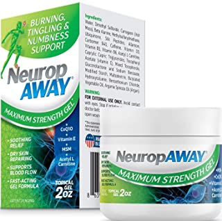 VasoCorp NeuropAWAY Neurop Pain Relief | 2 oz Maximum Strength Gel Nerve Pain Relief and neurop Pain Relief...