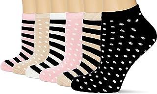 FM London Women's Bamboo Trainer Ankle Socks (Pack of 6)