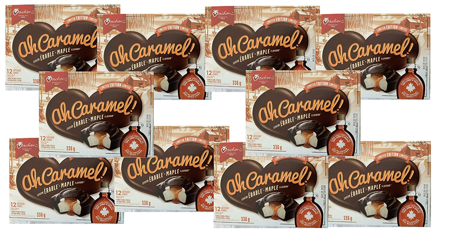 10 Max Popular brand 66% OFF Box 12 Cakes Vachon the à Ah Caramel Flavour MAPLE Limited