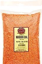 Masoor Dal 4LB Bag (64oz) - Red Lentils Split - All Natural By Spicy World
