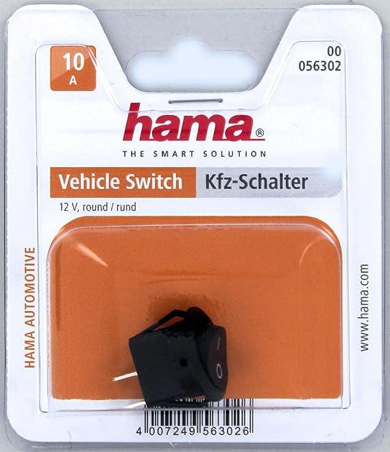Hama Kfz Einbausteckdose 16a 6 24v Zusatzsteckdose Mit Staubschutzkappe Schwarz Baumarkt