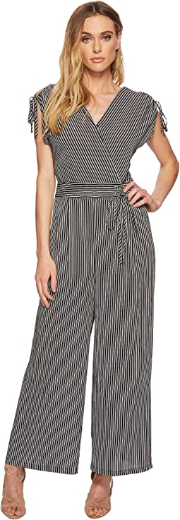 J.O.A. - Adjutable Shoulder Wide Leg Jumpsuit
