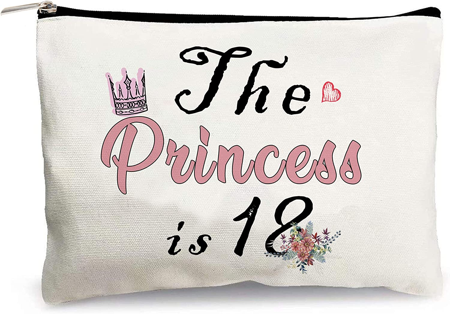 Girl Our shop OFFers the best service 18th Birthday Gift Cosmetic Bag-The is Denver Mall Fun 18 Princess Crow