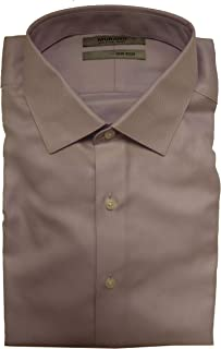 Non-Iron Slim Fit Spread Collar Herringbone Dress Shirt S75DM010 Lavender