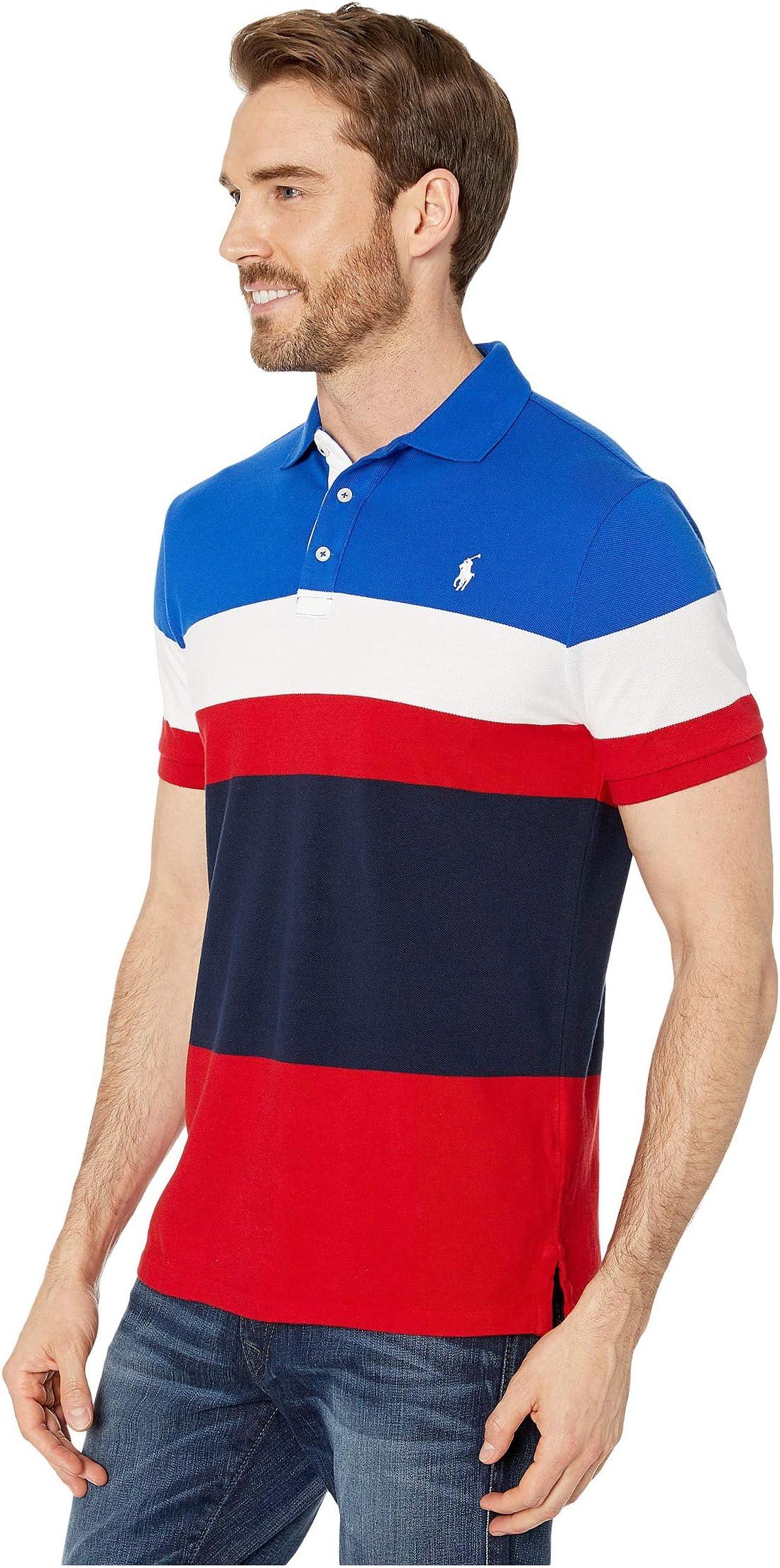 Polo Ralph Lauren Slim Fit Color Block Mesh Polo tU5U2