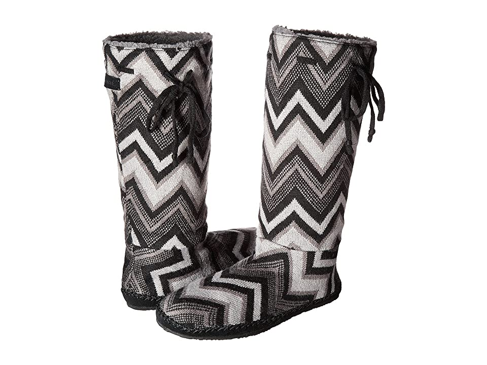 Sanuk Snuggle Up (Black Multi Chevron) Women