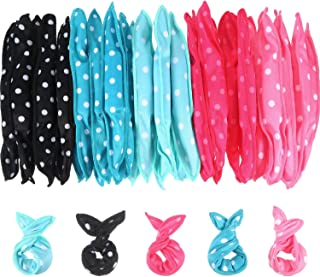 40 Pieces Hair Rollers DIY Hair Styling Rollers Tools Soft Sleep Foam Pillow Hair Curler Rollers Sponge (Color Set 1)