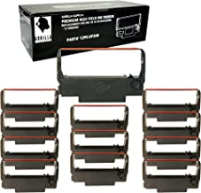 Gorilla Supply Ink Ribbon ERC 30 34 38 B/R Compatible for ERC38 NK506 (12-PK, Black Red)
