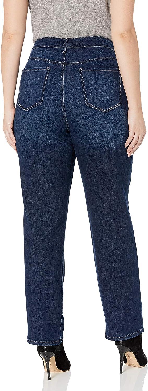Bandolino Womens Plus Size Mandie Signature Fit 5 Pocket Jean
