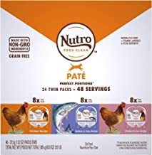 product image for Nutro Perfect Portions Grain Free Natural Pate Recipes Variety Pack Adult Wet Cat Food, 3.97 lbs., Count of 24