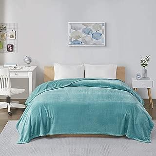 Intelligent Design Microlight Plush Luxury Oversized Blanket Premium Soft Cozy For Bed, Couch or Sofa, King, Aqua