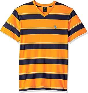 U.S. Polo Assn. Men's Short Sleeve V-Neck Striped T-Shirt