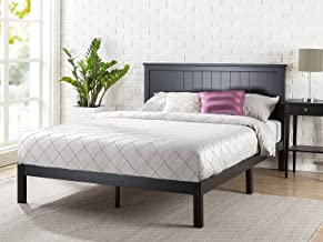 Zinus Santiago Wood Cottage Style Platform Bed with Headboard / No Box Spring Needed / Wood Slat Support, Full