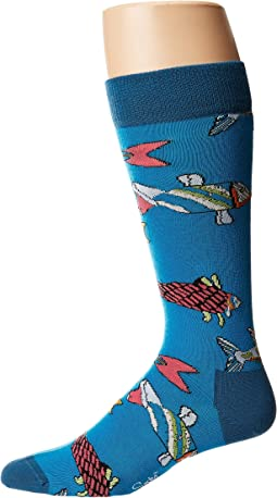 Beatles Fish & Whales Sock