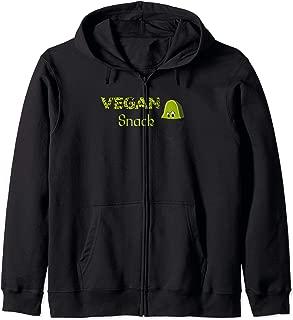 Cartoon Vegan Snack Avocado Fruit Healthy Food Pocke Zip Hoodie