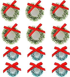 Vesil Mini Christmas Wreaths Decorations, 12 pcs