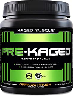 Pre Workout Powder; KAGED MUSCLE Preworkout for Men & Pre Workout Women, Delivers Intense Workout Energy, Focus & Pumps; O...