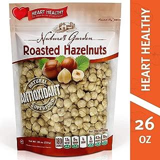 Nature's Garden Roasted Hazelnuts, Heart Healthy snack, Natural Antioxidant, Vegan, Koshar, Gluten Free, Cholesterol Free, Sodium Free, no Artificial Ingredients, 26 oz.