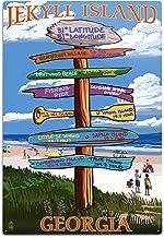 Lantern Press Jekyll Island, Georgia - Sign Destinations 52174 (6x9 Aluminum Wall Sign, Wall Decor Ready to Hang)