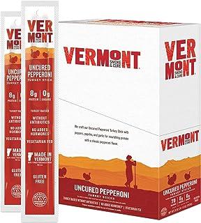 Vermont Smoke & Cure Jerky Sticks - Antibiotic Free Turkey - Gluten Free - Great Keto Snack, High in Protein & Low Sugar -...