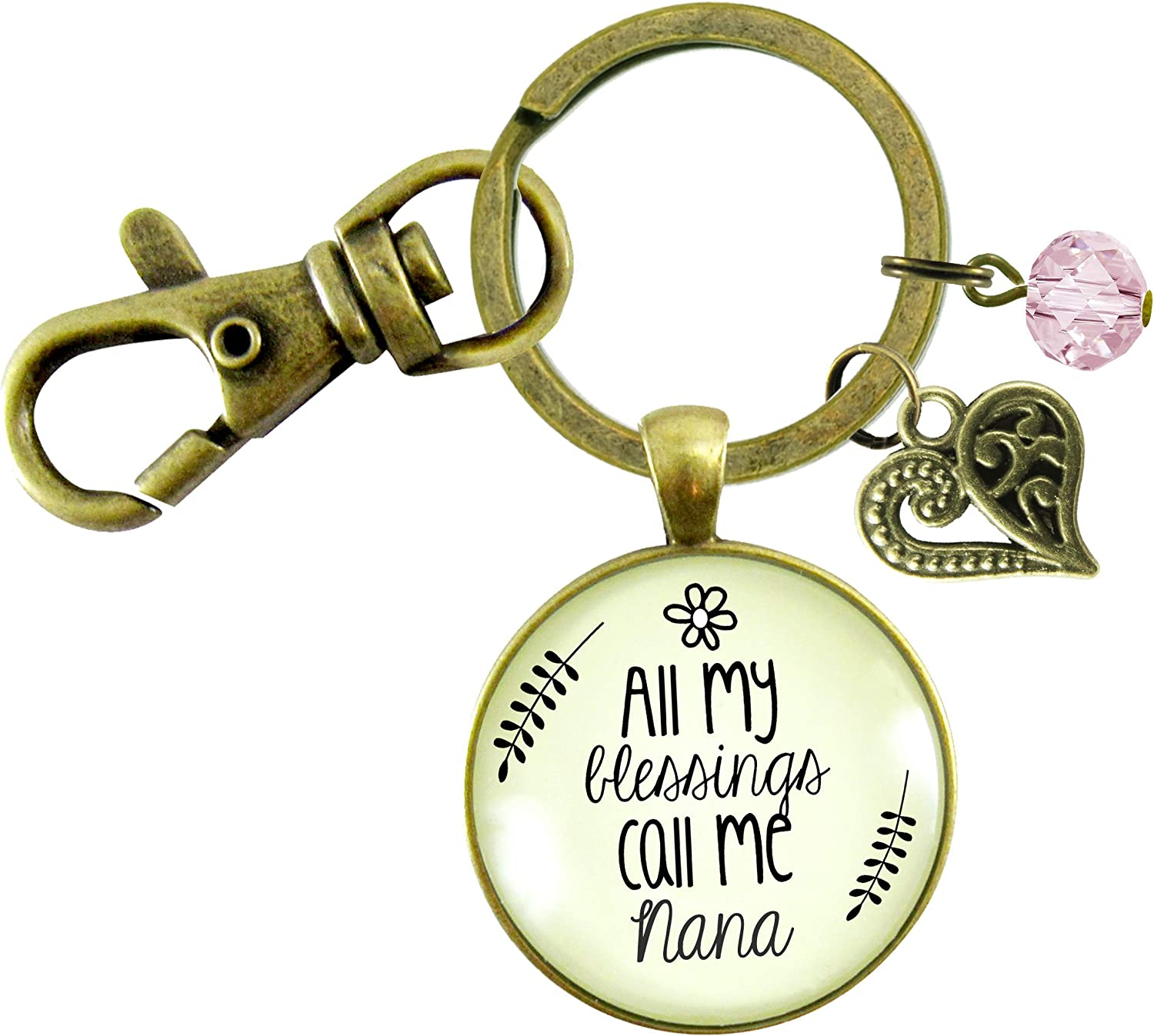 Gutsy Goodness Nana Mail order cheap Max 77% OFF Keychain All Southern My Blessings Grandma W