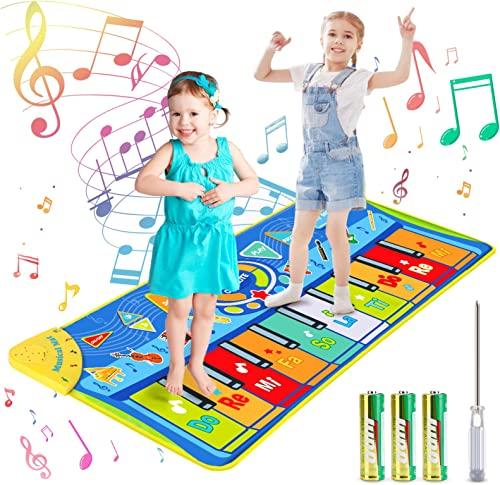 joylink Tapis de Piano Musical, Tapis Musical Enfant Piano Tapis Tapis de Jeu pour Piano Tapis de Musique avec 10 Tou...