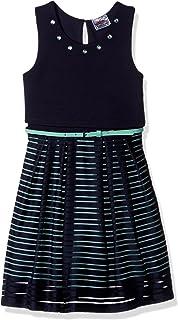 فستان بناتي من Beautees بأشرطة شبكية بدون أكمام