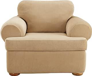 SureFit Stretch Pique T Cushion Chair, Cream, 3 Piece