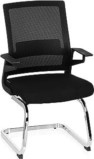 hjh OFFICE 732060 INVENTOR V silla de confidente tejido de malla/tela negro silla visitante