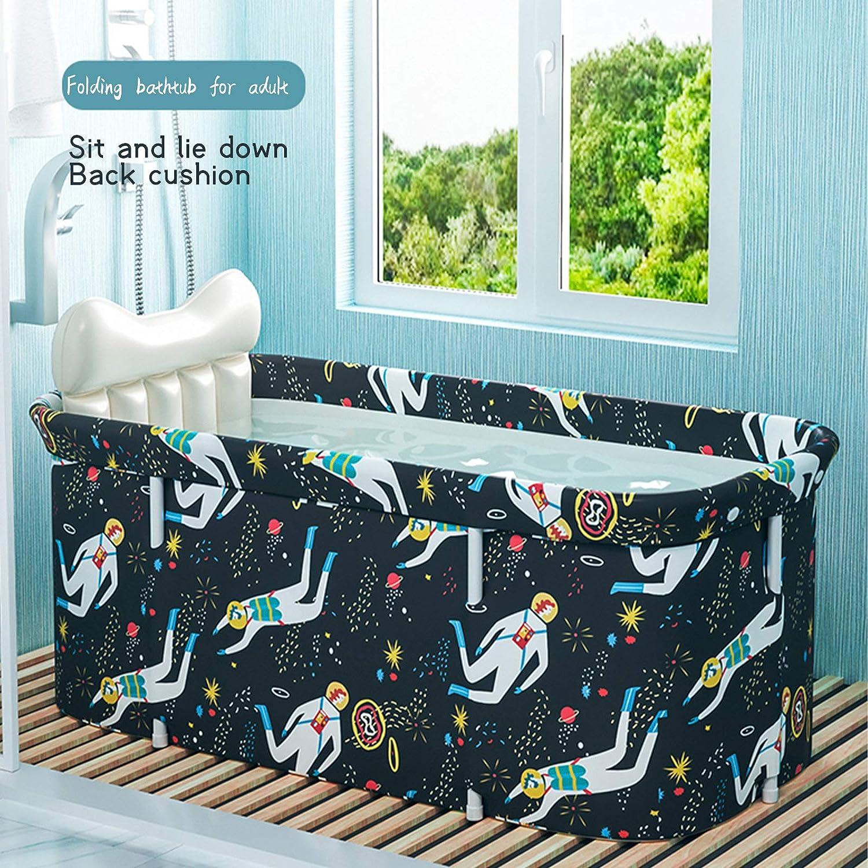 55 Erwachsene Tragbarer Badewanne Robuste und Rutschfest Wannenbad Bathtub mit Badewannenaufsatz f/ür Familie Kinder 50cm shenruifa Mobile Badewanne Faltbare Badewanne 120